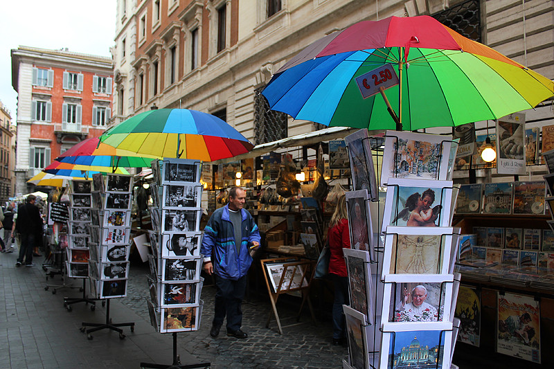 A street shop near Fontana di Trevi