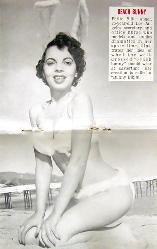 Beach Bunny - Jet Magazine, Apr 15, 1954 by vieilles_annonces.