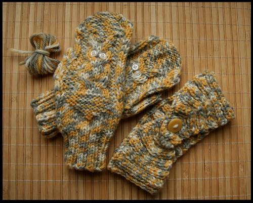 mittens and handband