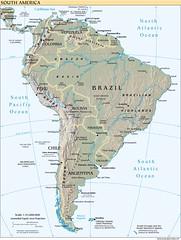 Mapa de América del Sur; mapa da América do Su...