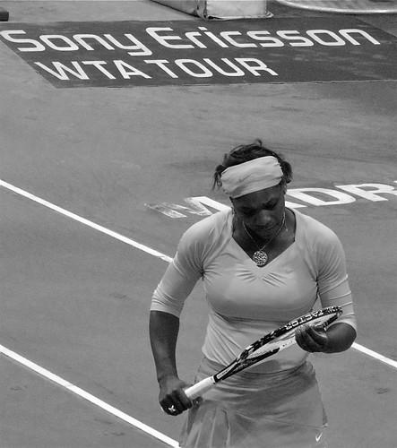 Serena Williams y su raqueta