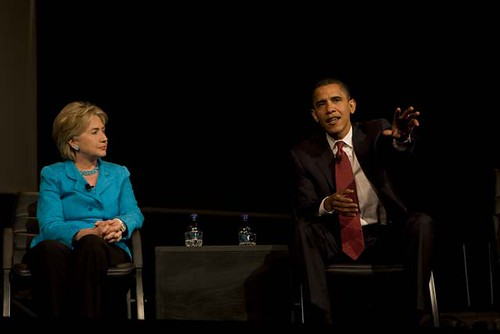 Hillary Clinton & Barack Obama at YearlyKos 2007