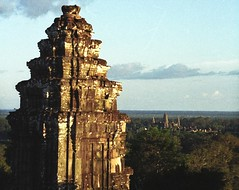 The Angkor wat in the distance as seen from Ph...