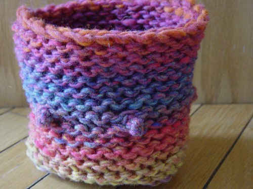 Not yet felted basket