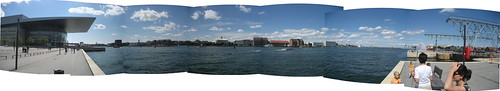 Panorama of Copenhagen harbour