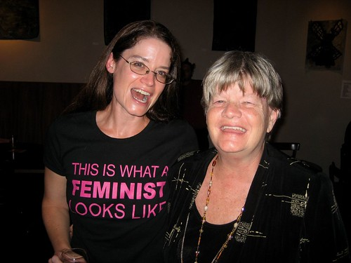 Elizabeth Wood and her mom Judy at the SitPS party