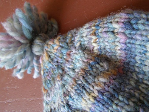 star topped handspun hat - topping