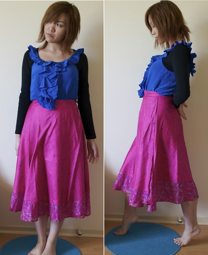 Tree of Life pink skirt
