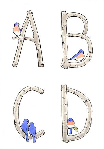 Alphabirdybet A-D.