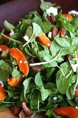 Arugula, Apricot, Nut, and Goat Cheese Salad