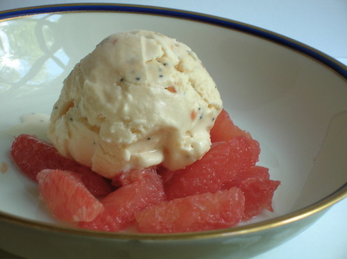 grapefruit-poppy-seed ice cream by mercedes l..