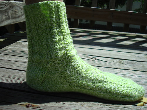 Mock Cable Socks