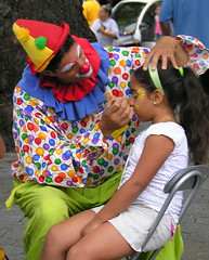 Face painting in Coffey Park