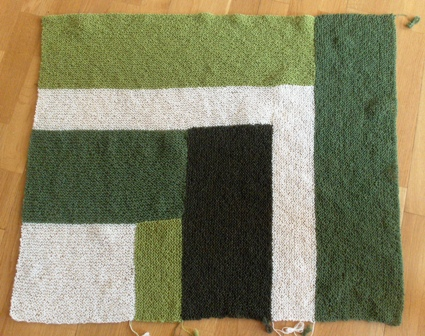 Moderne baby blanket progress