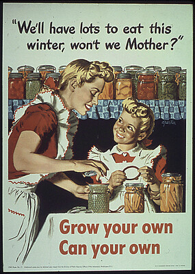 WW2 Poster Grow Your Own Can Your Own