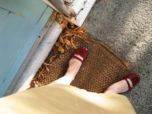 Leaving for work feet.