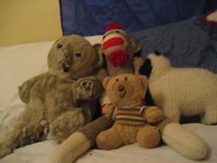 various stuffed animals