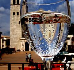 Town Square through a glass