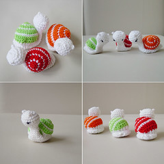 Amigurumi Crochet Snails by Pepika