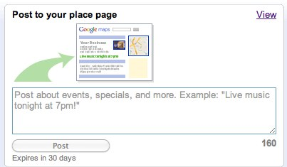 Post - Google Places - Analytics