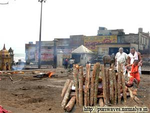A Cremation seen Swargadwar Puri
