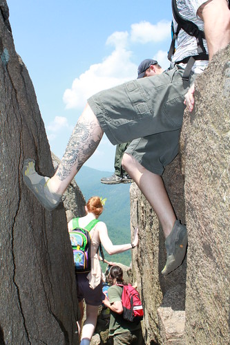 Old Rag- Nicole, Greg, Ryan Rock Scrambling