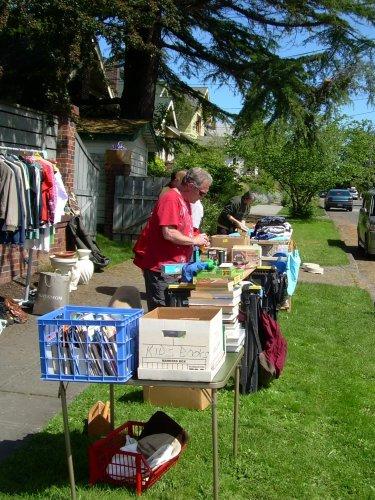 Large sidewalk sale