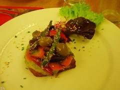 Vegan Crostino at vegetarian restaurant Green Planet in Amsterdam