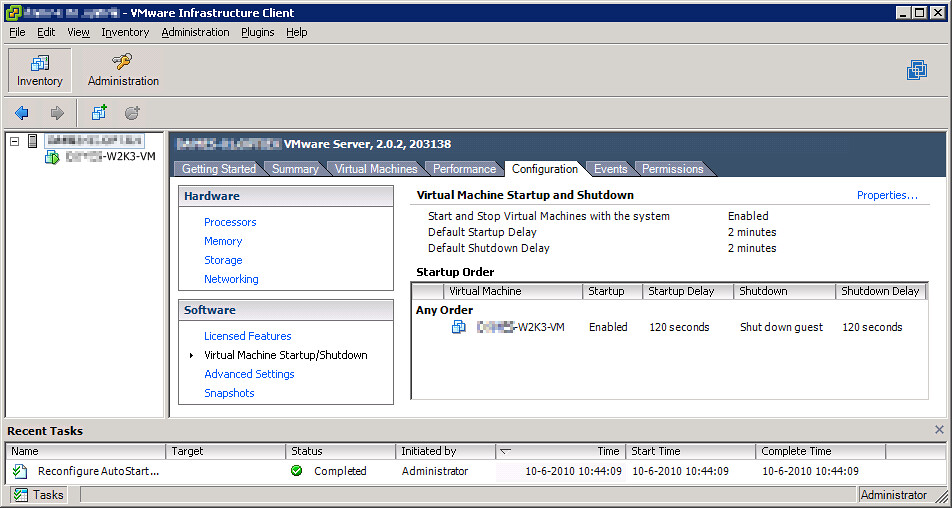 Using a USB connected APC UPS with Windows Server 2008 and VMware Server 2.0 (6/6)