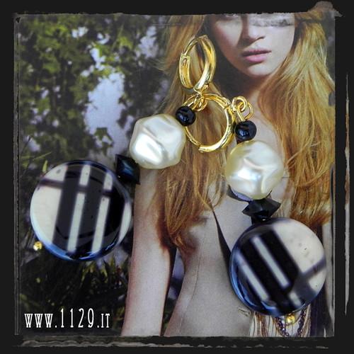 LMSARA orecchini scacchi tartan earrings