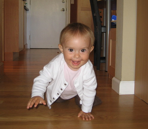 baby T crawling