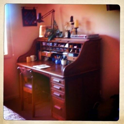 Antique Dornette Brothers oak rolltop desk