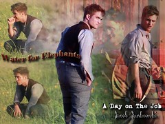 Wallpaper [1024 x 768]:  Robert Pattinson on-set Water for Elephants - A Day on The Job