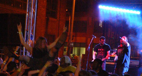 Crowd Surfer while Entombed plays at Maryland Deathfest VIII