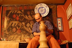 In a ceramic shop in Istanbul