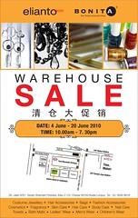 Bonita & Elianto Warehouse Sales