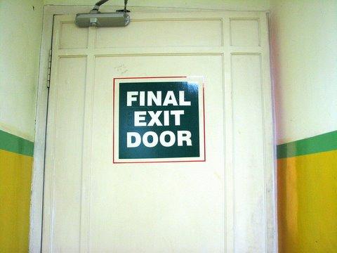 final exit door 260807 Kochi Taj Malabar service staircase