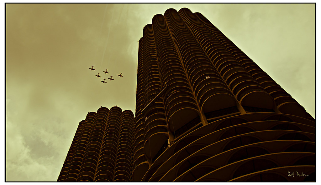 Six Planes Over Marina City