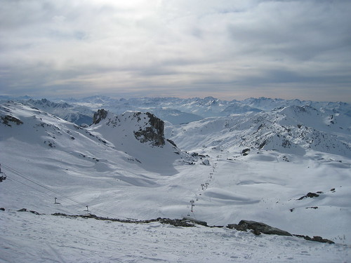View across La Vanoise from the slopes of La Plagne