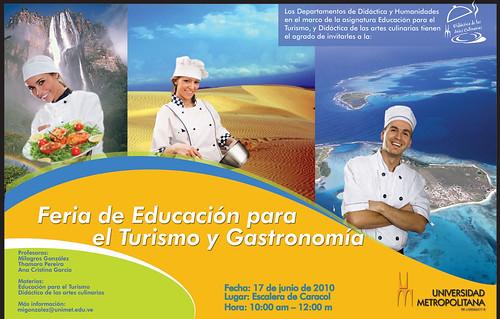 FERIA DE EDUCACION TURISMO GASTRONOMIA