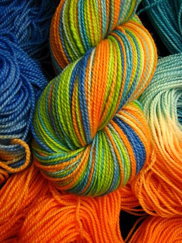 Koi Pond - Tiger Twist Hand Dyed Sock Yarn
