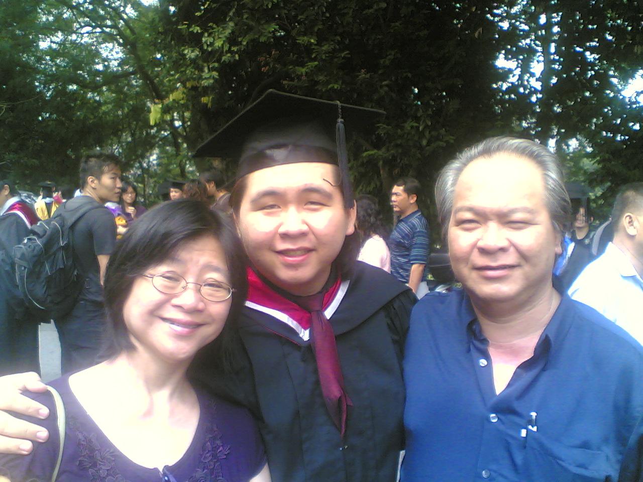 Mum, Dad, and I...