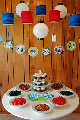 Camilla's first birthday decorations.