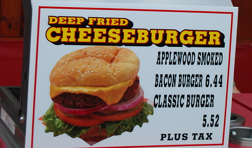 Deep friend cheeseburger