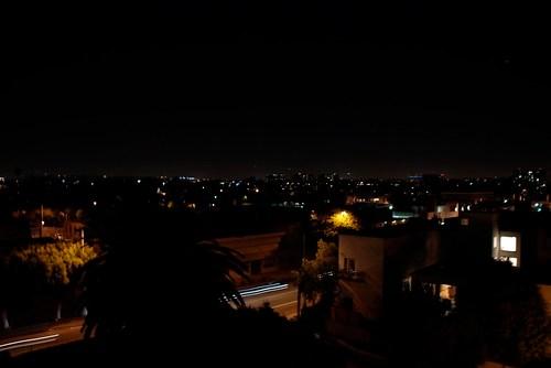 LA night view