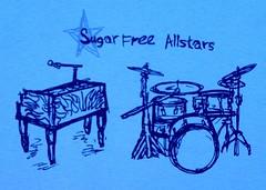 Sugar Free Allstars T-Shirt Design