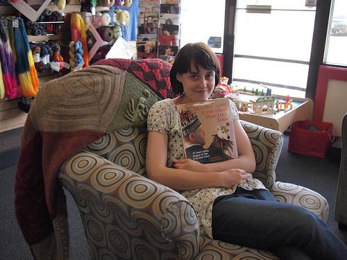 Sarah at yarn and fiber co