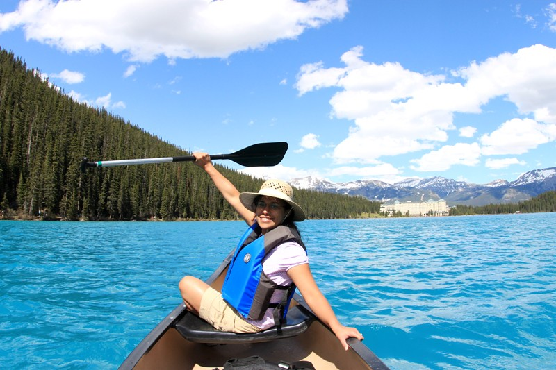 Lake Louise Paddler