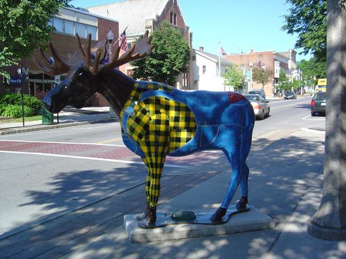 Flannel & denim moose