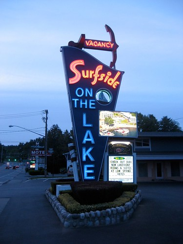 Surfside On The Lake Neon Sign